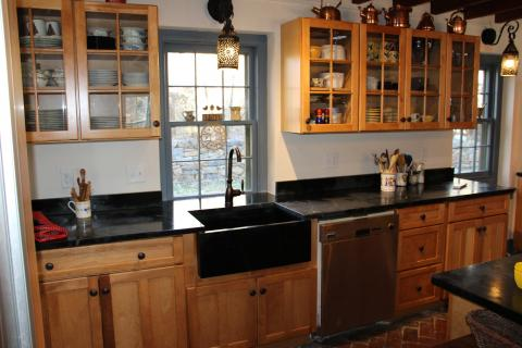 soapstone sink, kitchen remodel, historic