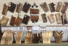 Serving boards, Pennsbury antique mall, natural edge, charcuterie
